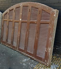 Sale 9174 - Lot 1473 - Large arched and shuttered window (h167 x 234cm)