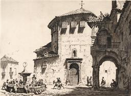 Sale 9216A - Lot 5076 - LIONEL LINDSAY (1874 - 1961) Convent of Santa Eufemia, Antequera drypoint etching, ed of 100 25 x 34 cm (frame: 50 x 58 x 3 cm) sign...