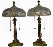 Sale 7988 - Lot 2 - Waterford Crystal Pair of Bedside Lamps