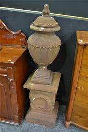 Sale 8127 - Lot 808 - Iron Finish Terracotta Urn on Stand
