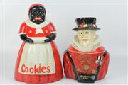 Sale 8417 - Lot 97 - Figural Cookie Jar with Another