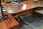 Sale 8489 - Lot 1038 - Timber Dropside Table on Brass Claw Feet