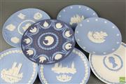 Sale 8604W - Lot 28 - Selection Of Jasperware Plates Including Tricolour Christmas Tenth Anniversary (7)