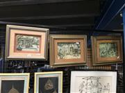 Sale 8752 - Lot 2073 - Anton Pieck - Set of Three Layered Pictures in Shadow Boxes Curiosity Shop, The Photographer & Musical Evening