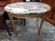 Sale 8831 - Lot 1021 - Early C20th French Gilt Wood Occasional Table with Marble Top
