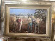 Sale 8898 - Lot 2028 - Norma Dickason - Country Races oil on canvas, 67 x 93cm, signed