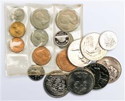 Sale 9144 - Lot 75 - A British 1953 UNC coin set together with other coins