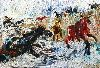 Sale 3847 - Lot 45 - GIL JAMIESON (1934 - ) - Horses and Stream 45 x 66 cm