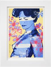 Sale 8382A - Lot 20 - David Bromley (1960 - ) - Charlotte and Butterfly 29 x 21.5cm