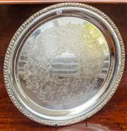 Sale 8284A - Lot 24 - A Hecworth silverplate circular tray. D: 30cm
