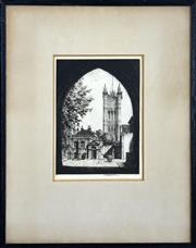 Sale 8325A - Lot 159 - Stanley Anderson (1884 - 1966) - University College 23.5 x 17.5cm