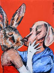 Sale 8350E - Lot 45 - Gille & Marc (XX) - Their First Kiss 120 x 90cm