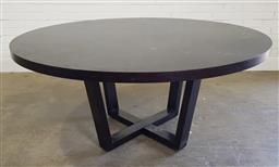 Sale 9188 - Lot 1379 - Modern round dining table on cage form base (h:77 x d:160cm)