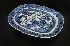 Sale 3803 - Lot 677 - A 19TH CENTURY WILLOW PATTERN BLUE & WHITE MEAT PLATTER