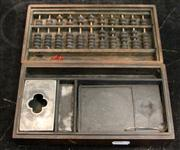 Sale 7969 - Lot 76 - Timber Box with Ink Block and Abacus