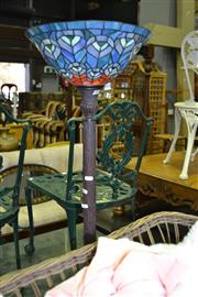 Sale 8093 - Lot 1301 - Leadlight Shade Standard Up Lamp