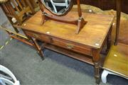 Sale 8115 - Lot 1033 - Timber Hall Table w 2 Drawers