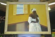 Sale 8227 - Lot 1063 - Seated Woman, Oil on Canvas