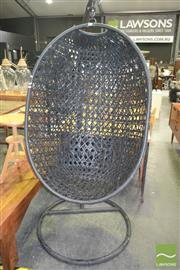 Sale 8257 - Lot 1025 - Hanging Egg Chair, on stand