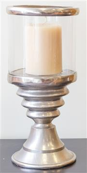 Sale 8279A - Lot 58 - A glass and silver effect storm lantern, height 48cm