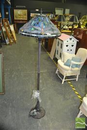 Sale 8380 - Lot 1080 - Leadlight Shade Standard Lamp