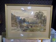 Sale 8483 - Lot 2050 - Artist Unknown, Cottage in Landscape, Watercolour, 33x20