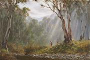 Sale 8791 - Lot 523 - Kevin Best (1932 - 2012) - Untitled (Bush Scene) 60 x 90.5cm