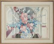 Sale 8914 - Lot 2033 - Muriel Medworth (1903 - 1965) Untitled, Still Life, 1944 watercolour (AF), 38 x 52.5 cm, signed, dated lower right -