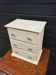 Sale 8988 - Lot 1057 - Apprentice Chest of Three Drawers (H:32 W:29 D:19cm)