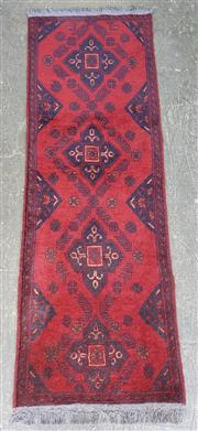 Sale 9063 - Lot 1062 - Hand Knotted Pure Wool Afghan Kahl (150 x 50cm)