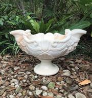 Sale 9080G - Lot 26 - Carved Marble Urn .General Wear. Consists of 2 Parts. Top and base. Size: 53cm W X30cm H