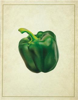 Sale 8422A - Lot 93 - A framed print, Green Capsicum, total size with frame 66 x 54cm