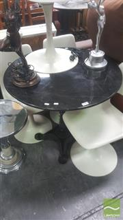 Sale 8418 - Lot 1053 - Black Granite Top Table with Iron Base (80cm)