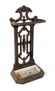 Sale 8422A - Lot 80 - An antique French cast iron umbrella stand, height 70cm