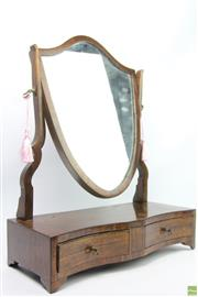 Sale 8630 - Lot 99 - Late Victorian/Edwardian Two Drawer Mirror