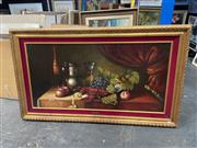 Sale 9019 - Lot 2047 - D Treverso Bountiful Still Life oil canvas on board, 85 x 145cm (frame) signed lower right