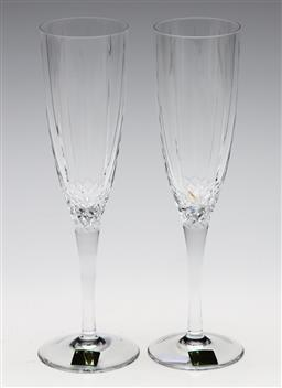 Sale 9246 - Lot 25 - A pair of Waterford crystal champagne flutes (H:22.5cm)