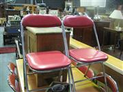 Sale 7974A - Lot 1072 - Set of 8 Chrome and Leather Fold Up Chairs