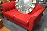 Sale 8338 - Lot 1300 - Modern Red Upholstered Two Seater Lounge