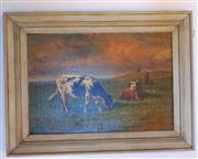 Sale 8362A - Lot 38 - Early French School - Cattle in a Field 39 x 57 cm