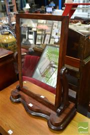 Sale 8489 - Lot 1065 - Timber Toilet Mirror