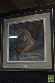 Sale 8525 - Lot 2042 - J. Richard Ashton, Resting Nude, 1975, pastel on paper, frame size: 46 x 46cm, signed and dated upper right