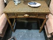 Sale 8893 - Lot 1084 - Wicker Single Drawer Hall Table with Carved Handle