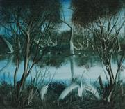 Sale 8916 - Lot 535 - Kevin Charles (Pro) Hart (1928 - 2006) - Waterhole and Birds 29 x 33.5 cm