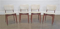 Sale 9255 - Lot 1200A - Set of 4 vintage timber dining chairs (h:78 w:47 d:43cm)