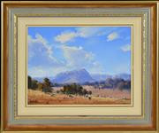Sale 8382 - Lot 591 - John Wilson (1930 - ) - Windy Afternoon, Megalong Valley 29.5 x 39cm