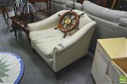Sale 8418 - Lot 1047 - White Leather Armchair