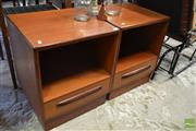 Sale 8528 - Lot 1059 - Pair of G-Plan Teak Bedside Lockers