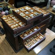 Sale 8638 - Lot 654 - Australian Collectors Cabinet of Birds Eggs collected by M. A. R. Arnold, c. 1900-1930s M. A. R. Arnold was an Australian bird c...
