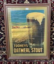 Sale 9002 - Lot 1023 - Framed Vintage Tooheys Oatmeal Stout Poster, minor tears (h:56 x w:43cm)
